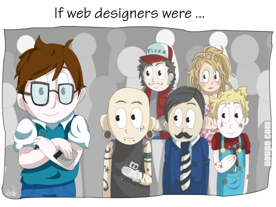 Cartoon: If Web Designers Were Pizza Boys [005]