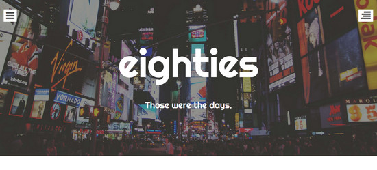 eighties theme