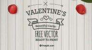 Valentine's Gift to Our Dear Readers: 8 Typographic Valentine Cards as AI, EPS and JPG