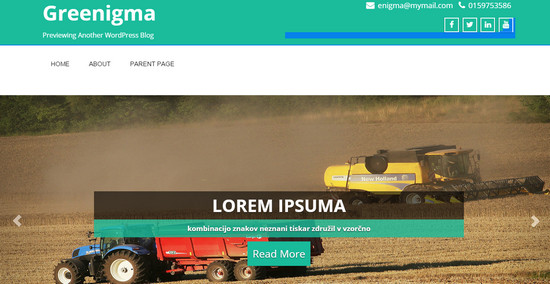 greenigma theme