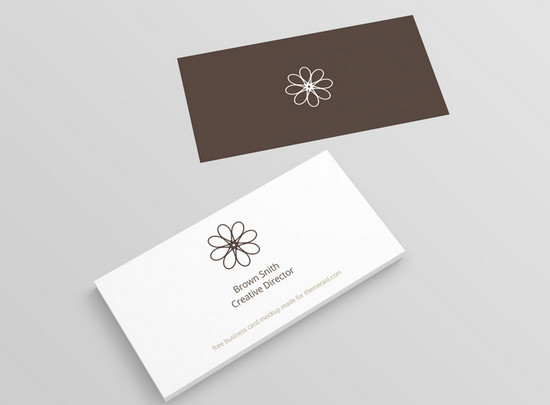 100 best free business cards resume templates and more of 2014 perspective business card mockup psd minimal b card reheart Gallery