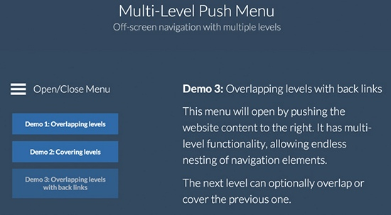 multi-level-push-menu
