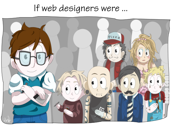 Cartoon: If Web Designers Were Sculptors… [006]