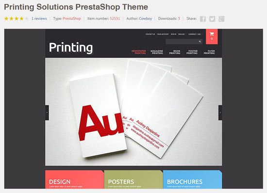 TemplateMonster: Just one Example of a PrestaShop Template