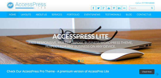 AccessPress Light Theme