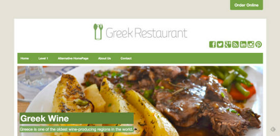 Greek Restaurant Theme