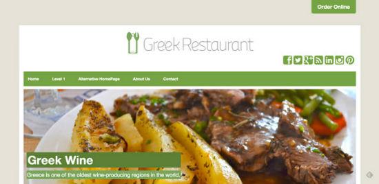 Greek Restaurant Theme