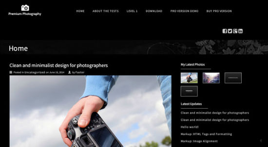 Premium Photography Theme