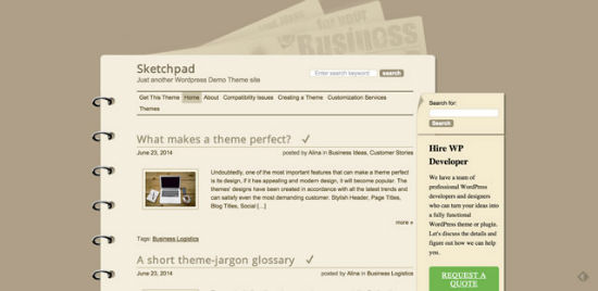 Sketchpad Theme