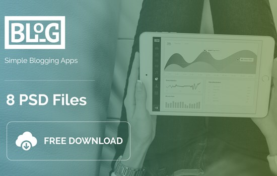 8 PSD Files for Blog Apps