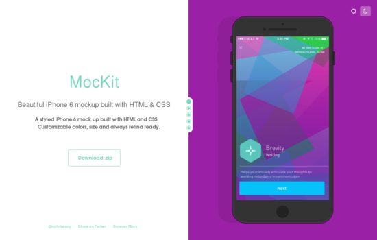 HTML/CSS IPhone 6 Mockup