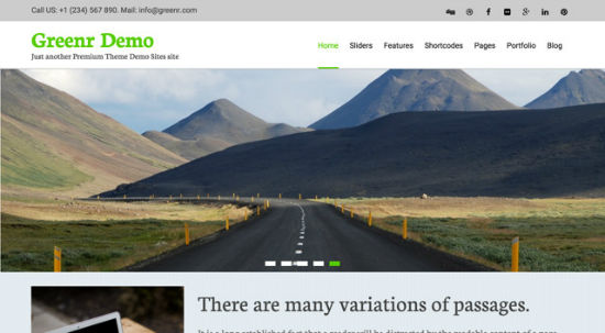 Greenr WordPress Theme