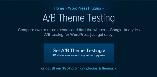 Das A/B Theme Testing Plugin von wpmudev