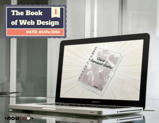 The Book of Web Design Vol. 1: Clients' Standard Quotes (Cartoon)