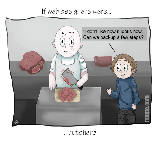 If Web Designers Were Butchers