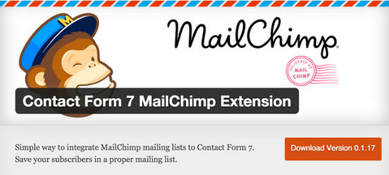 Contact Form 7 MailChimp Extension