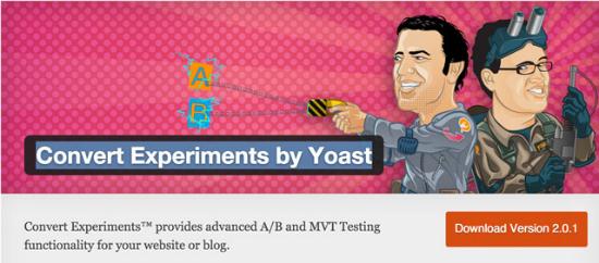 Das Convert Experiments Plugin für WordPress by Yoast