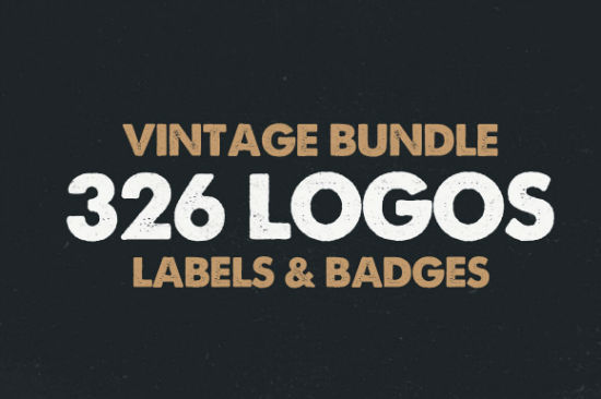 Deal of the Week: 326 Vintage Logos, Labels and Badges Templates (PSD, EPS, AI)