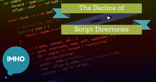 The Decline of Script Directories: Modern Times Dinosaurs [IMHO]