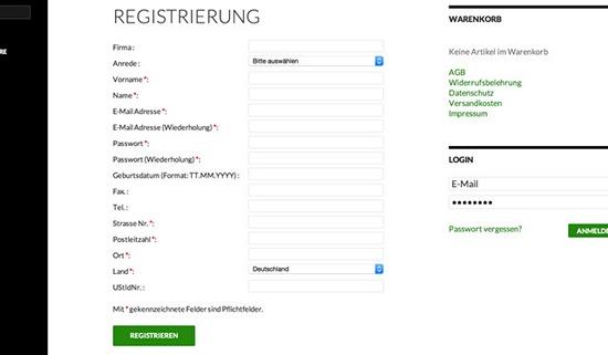 die-registrierung