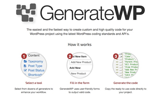 GenerateWP Tool for developing WordPress Themes