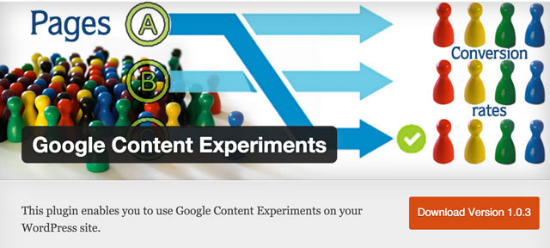 Das Google Content Experiment Plugin für WordPress