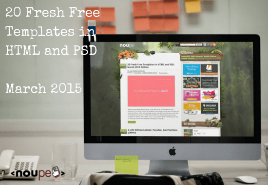 20 Fresh Free Templates in HTML and PSD: March 2015 Edition