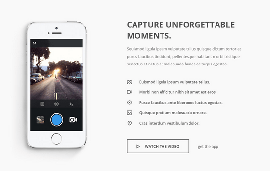 Capture: Responsive Bootstrap App Landing Page Theme