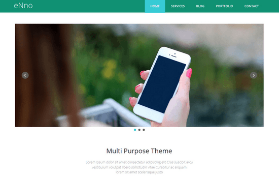 ENno: Simple Bootstrap Template