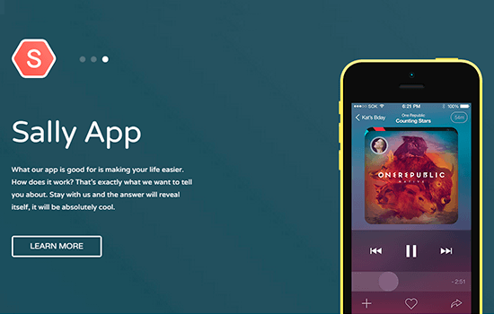 Sally Blocks: Mobile App Based Template