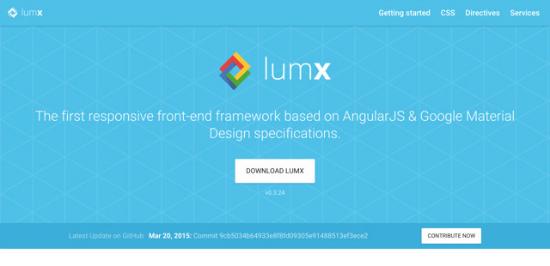 LumX Material Design Framework