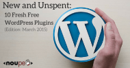 New and Unspent: 10 Fresh Free WordPress Plugins (Edition: March 2015)