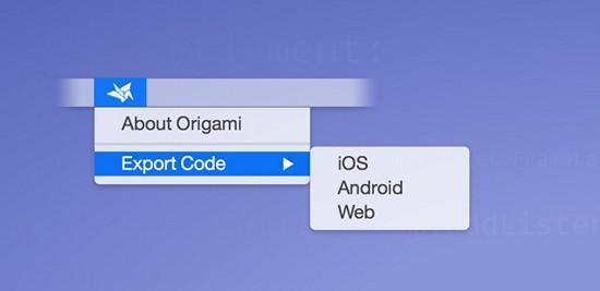 origami-export-code