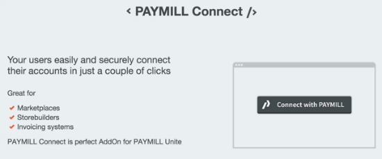 Paymill Connect