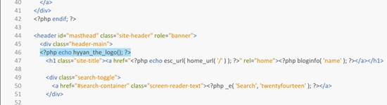 wordpress how to add logo to header.php