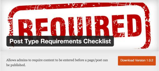 Post Type Requirements Checklist