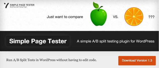 Simple Page Tester Plugin für WordPress