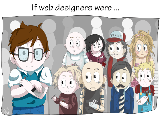 Cartoon Series Web Design