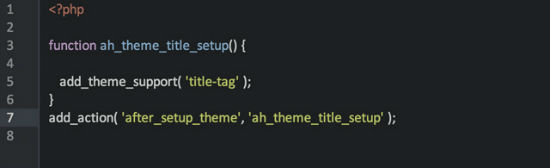 The New Function for the Title Tag