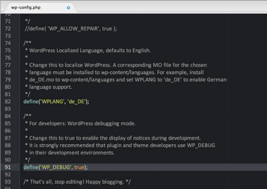 wp-config-settings