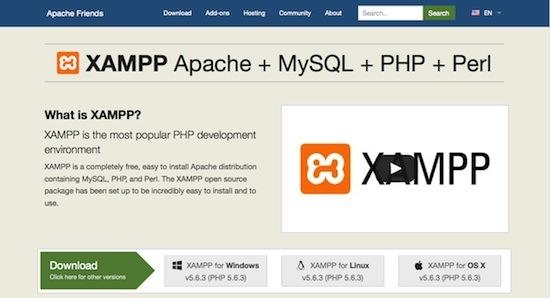 xampp dev environment for wordpress