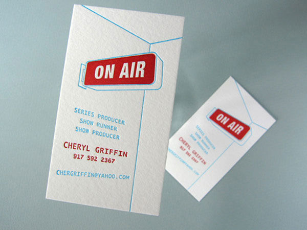 15 unique and inspiring business card designs noupe cheryl griffin created this business card when going freelance as a television producer however she wanted to create a card that didnt contain an icon of colourmoves Image collections