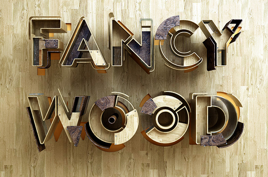 fancy wood type