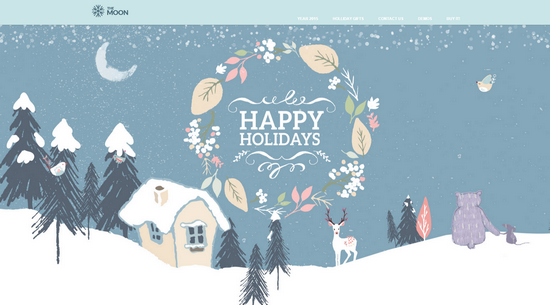 happy holiday by the moon