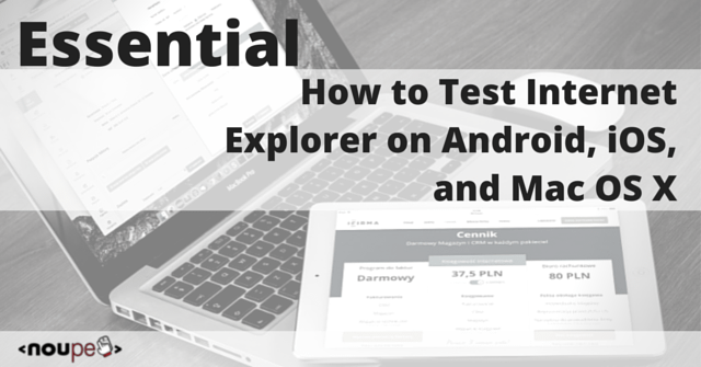 How to Test Internet Explorer