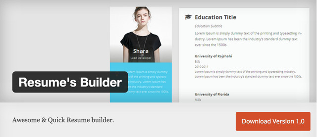 resume-builder-plugin