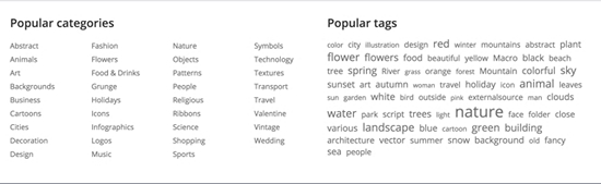 You can search by categories or tags on the home page.