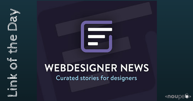 Webdesigner News - Landing Page