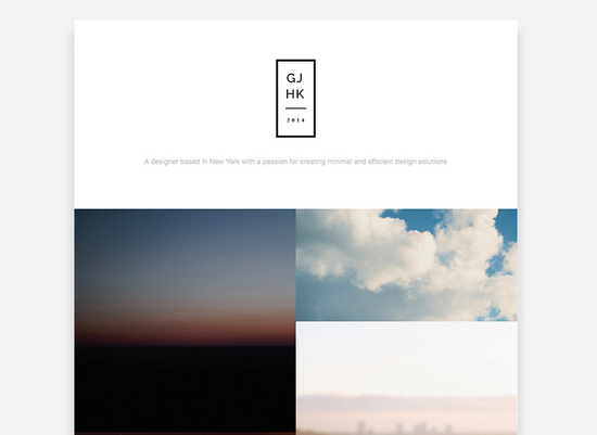 2-column portfolio website