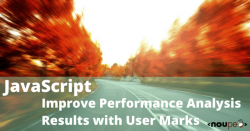JavaScript: Improve Performance Analysis Results with User Marks